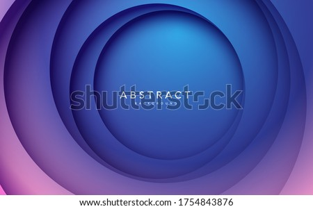 Gradient background. Abstract circle papercut smooth color composition.