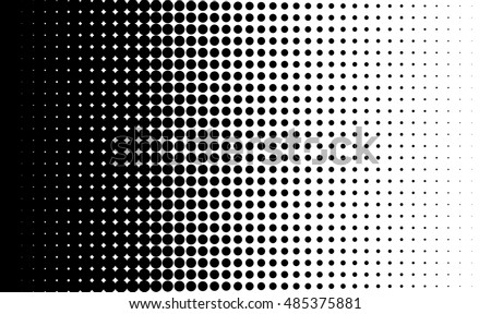 Gradient background with dots Halftone dots design Light effect Vector isolated object for website, card, poster