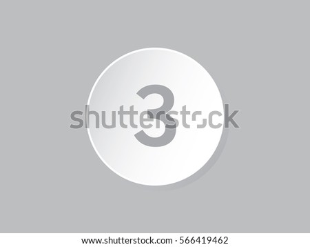 gradient circle with number 3