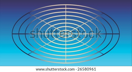 gradient colored card in landscape format with a gradient circle