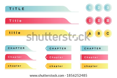 Gradient design of headings such as titles