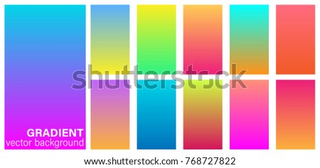 Gradient duotone theme color transitions vector template colorful bright tone colorful background for graphic display design.