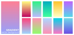 Gradient duotone theme color transitions vector template pastel soft tone colorful background for graphic display design.