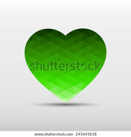 gradient green color and