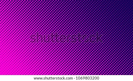 Gradient halftone pattern diagonal vector illustration. Pink dots, blue halftone texture. Pop Art blue pink halftone, comics Background. Background of Art. EPS10