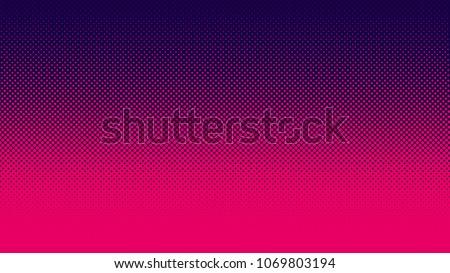 Gradient halftone pattern vertical vector illustration. Red Pink dark blue dots, blue halftone texture. Pop Art blue pink halftone, comics Background. Background of Art. EPS10
