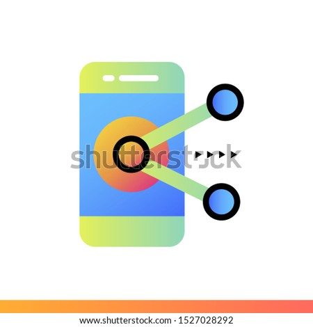 Gradient icon Augmented reality. Virtual and augmented reality gadgets. Suitable for presentation, mobile apps, website, interfaces and print