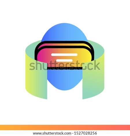 Gradient icon Virtual reality. Virtual and augmented reality gadgets. Suitable for presentation, mobile apps, website, interfaces and print