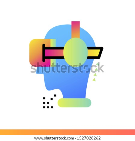 Gradient icon VR headset. Virtual and augmented reality gadgets. Suitable for presentation, mobile apps, website, interfaces and print