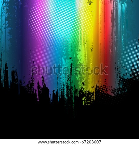 Gradient paint splashes background. Vector design template.