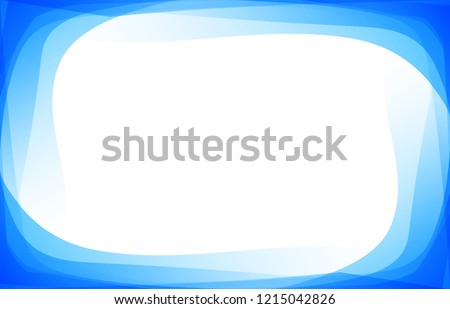 Gradient shade blending blue color border frame with blank space. Abstract template for presentation background vector.