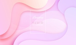 Gradient soft background in pastel colors. Liquid dynamic shapes abstract composition. Fluid modern template for woman poster, cosmetic pattern etc. Vector EPS10 illustration.