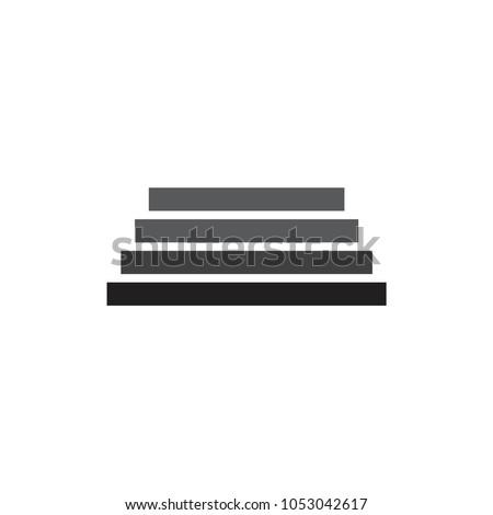 gradient staircase symbol logo vector