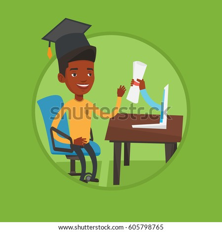 graduate getting diploma from