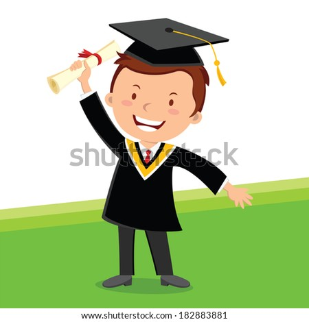 Graduating young man A cheerful young graduate man holding certificate with confident look