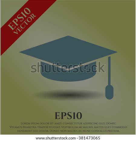 Graduation cap high quality icon