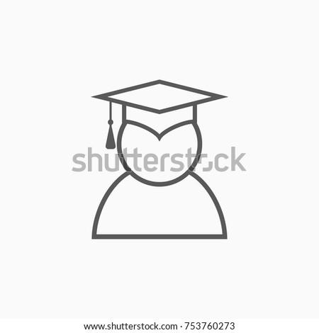 graduation cap icon, education cap vector illustration