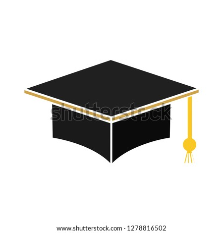 graduation cap icon-education vector-graduate symbol-achievement illustration-master sign
