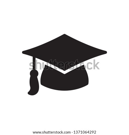 Graduation cap icon in trendy glyph style design. Vector graphic illustration. Graduation cap icon for website design, logo, app, and ui. Vector file. EPS 10.