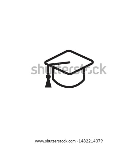 Graduation cap icon. Mortarboard icon. Square academic cap Icon. Higher education symbol. Trendy Flat style for graphic design, Web site, UI. EPS10. Vector illustration