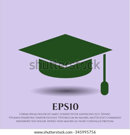 Graduation cap icon or symbol