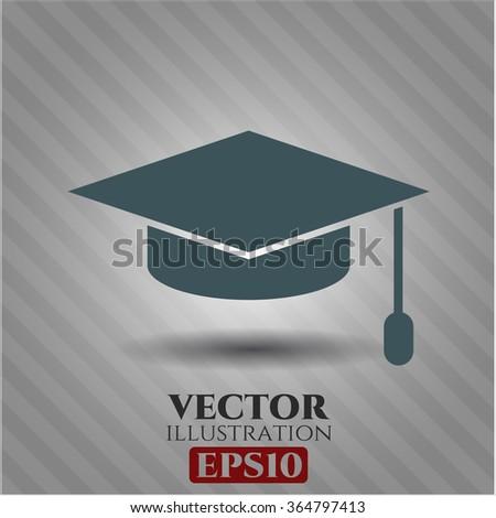 Graduation cap icon vector illustration
