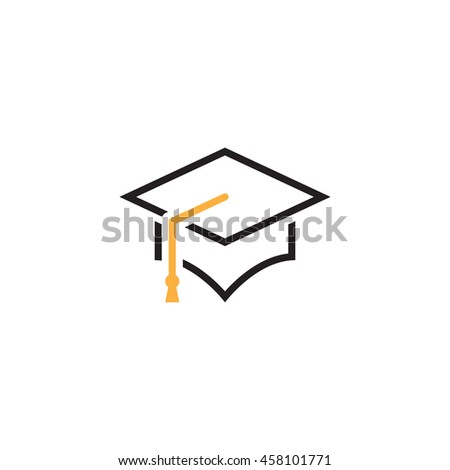 graduation cap line icon, outline mortarboard vector logo, linear pictogram isolated on white, pixel perfect illustration