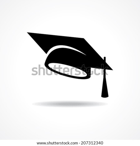 graduation cap symbol stock vector