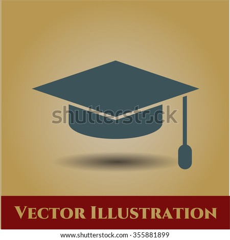 Graduation cap vector symbol