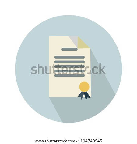 graduation certificate diploma, certificate diploma icon white isolated on white background. Vector diploma illustration