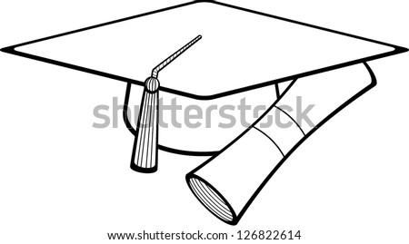 Graduation Hat And Certificate Graduation Hat And Diploma