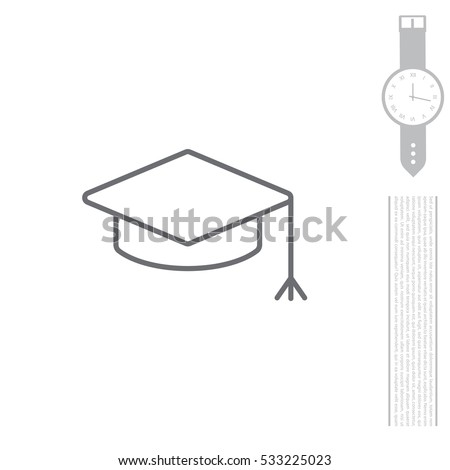 Graduation hat cap line art icon