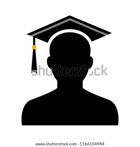 Graduation hat vector icon isolated on white background - diploma cap