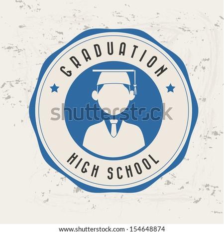 graduation label over pattern