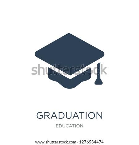 graduation mortarboard icon vector on white background, graduation mortarboard trendy filled icons from Education collection, graduation mortarboard vector illustration
