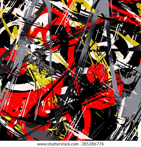 Graffiti abstract geometric background vector illustration