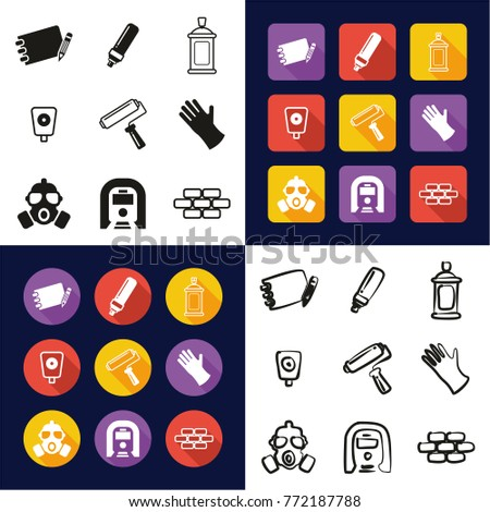 graffiti all in one icons black