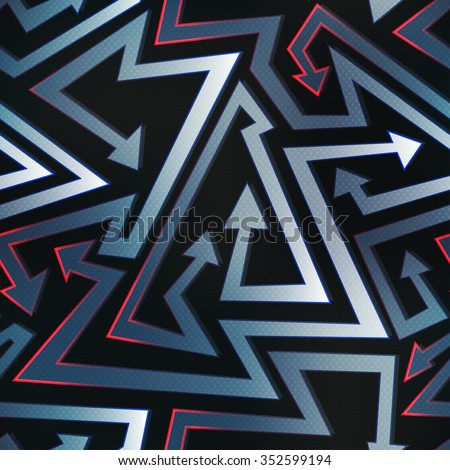 graffiti arrow seamless pattern