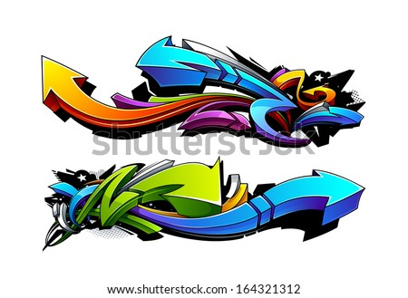 Shutterstock Graffiti arrows designs. Vector illustration.