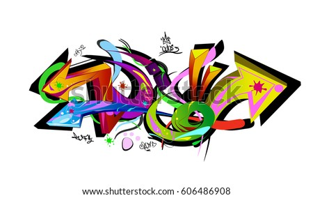graffiti arrows designs vector