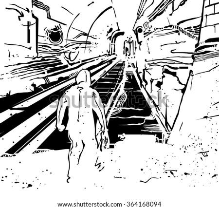 graffiti artist in the subway