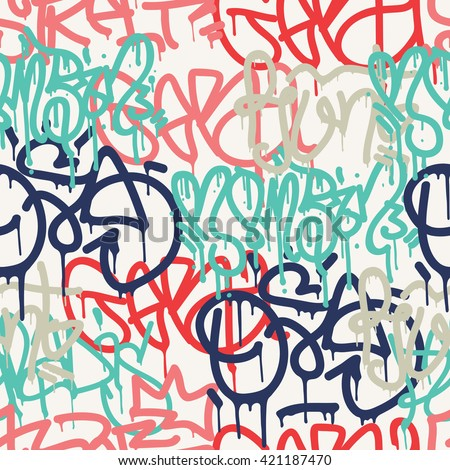 graffiti background seamless