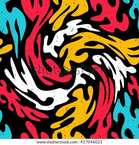 graffiti bright psychedelic