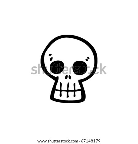 graffiti cartoon skull