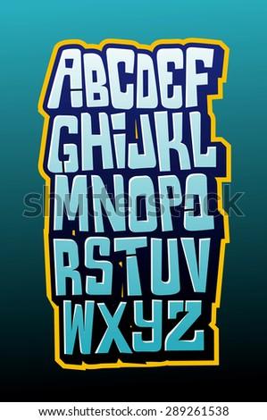 graffiti comics style lettering