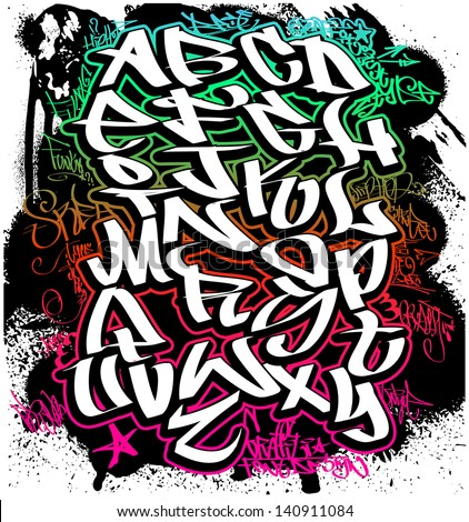 royalty free stock photos and images graffiti font alphabet hip