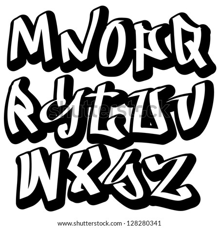 vector images illustrations and cliparts graffiti font alphabet