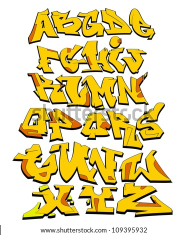 graffiti font alphabet urban