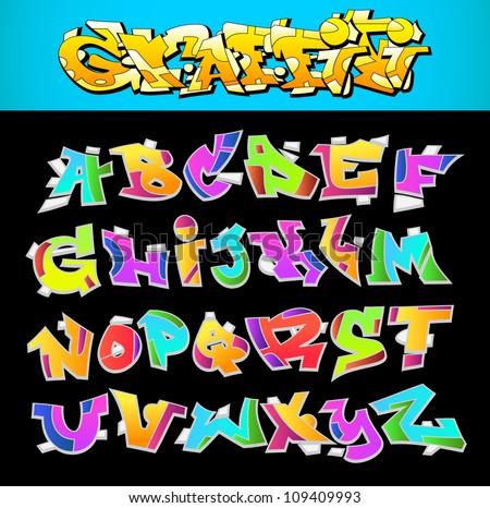 Graffiti Alphabet - Download Free Vectors, Clipart Graphics