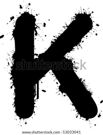 graffiti font. stock vector : Graffiti Font K